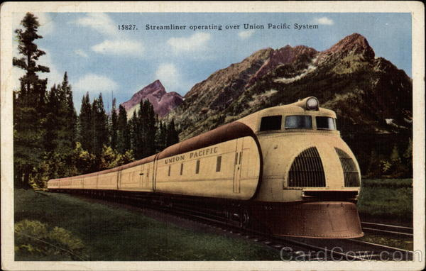Streamliner operating over Union Pacific System Trains, Railroad
