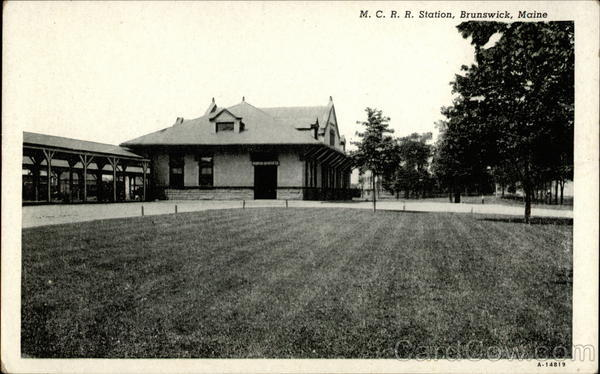 M. C. R. R. Station Brunswick Maine