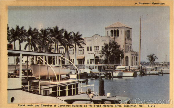 Yacht Basin and Chamber of Commerce Building on the Broad Manatee River Bradenton Florida