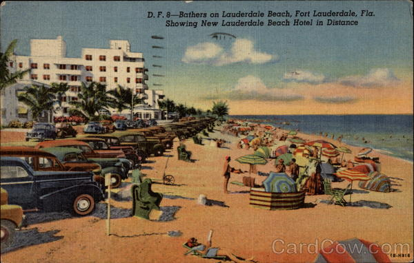 Bathers on Lauderdale Beach Fort Lauderdale Florida