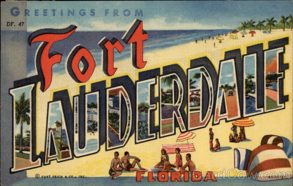 Greetings from Fort Lauderdale Florida Large Letter