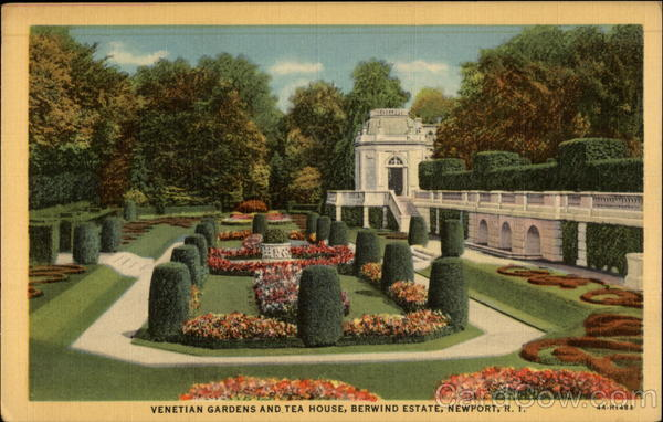 Venetian Gardens and Tea House, Berwind Estate Newport Rhode Island