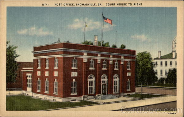 Post Office, Court House to Right Thomasville Georgia