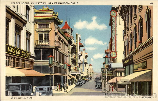 Street Scene, Chinatown San Francisco California