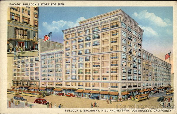 Facade, Bullock's store for men Los Angeles California