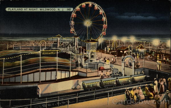 Playland at Night Wildwood New Jersey