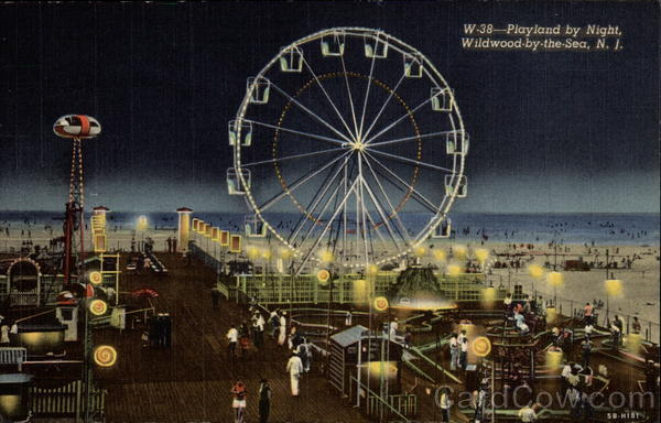 Playland by Night Wildwood-by-the-Sea New Jersey