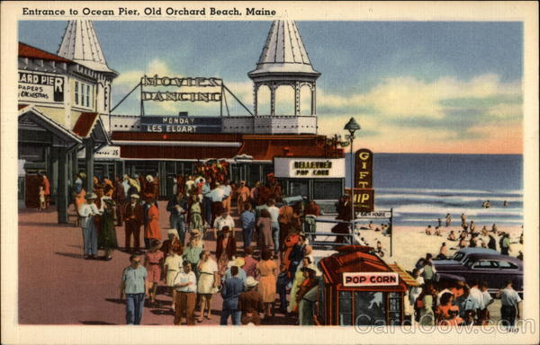 Entrance to Ocean Pier Old Orchard Beach Maine