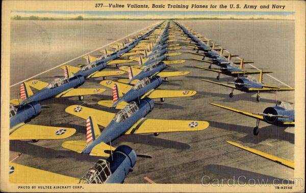 Vultee Valiants, Basic Training Planes for the U.S. Army and Navy