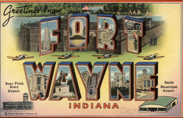 Greetings from Fort Wayne, Indiana Large Letter