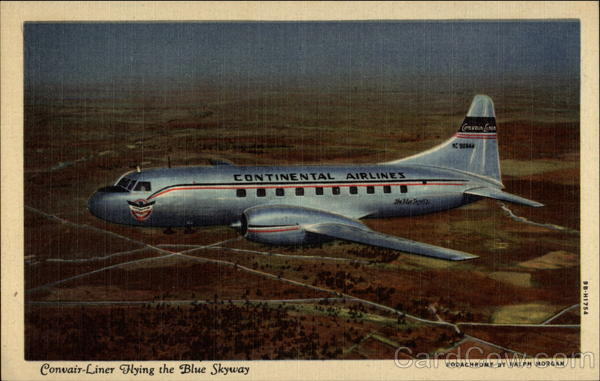 Convair-Liner Flying the Blue Skyway Aircraft