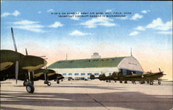 P-38's on ramp at Army Air Base