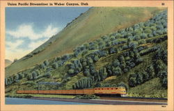 Union Pacific Streamliner in Weber Canyon, Utah