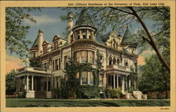 Official Residence of the Governor of Utah Postcard