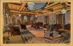 Governor's Reception Room - State Capitol Postcard