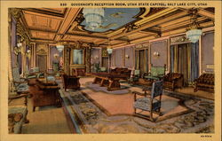 Governor's Reception Room, Utah State Capitol Postcard