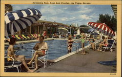 Swimming Pool, Hotel Last Frontier Postcard