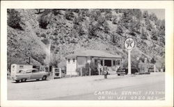 Carroll Summit Station on Highway U.S. 50 (Texaco) Postcard