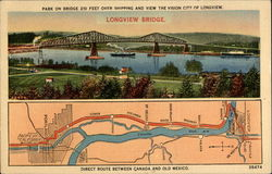 Longview Bridge Postcard