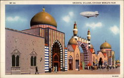 Oriental Village, Chicago World's Fair Postcard