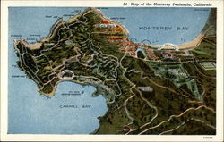 Map of the Monterey Peninsula Postcard
