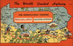 The Worlds Greatest Highway - The Pennsylvania Turnpike Postcard
