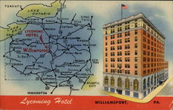 Lycoming Hotel Postcard