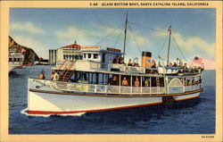 Glass Bottom Boat Postcard