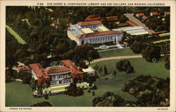 The Henry E. Huntington Library and Art Gallery Postcard
