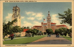 Miami Biltmore Hotel, Congregational Church to Left