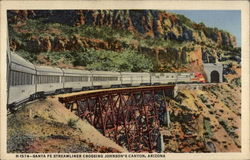 Santa Fe Streamliner Crossing Johnson's Canyon