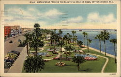 Waterfront Park on the beautiful Halifax River Postcard