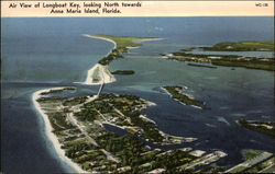 Air View of Longboat Key, Looking North Towards Anna Maria Island Postcard