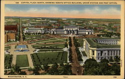 Capitol Plaza North, Showing Senate Office Building, Union Station and Post Office Postcard