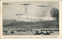 Tank Attack Supported by Army Air Force