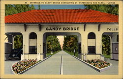 Entrance to Gandy Bridge Connecting St. Petersburg and Tampa