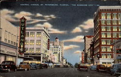 "Central Avenue - ""The Sunshine City"" Postcard"