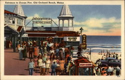 Entrance to Ocean Pier Postcard