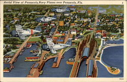Navy Planes over Pensacola, aerial view