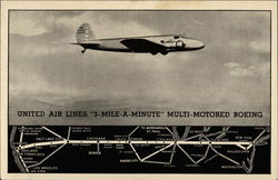 United Air Lines 3-Mile-A-Minute Multi-Motored Boeing