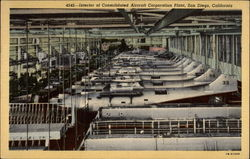 Interior of Consolidated Aircraft Corporation Plant (4545)