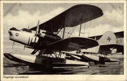 Flugreuge eubsatrberceit (Seaplane with Nazi ensignia)