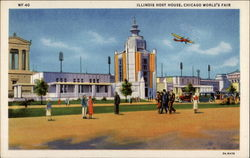 Illinois Host House, Chicago World's Fair Postcard