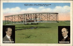 Wright Bros. First Power Driven Plane Postcard