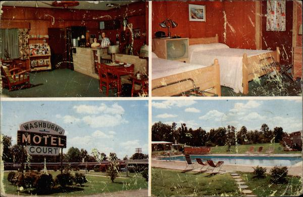 Washburn's Motel Court Rocky Mount North Carolina