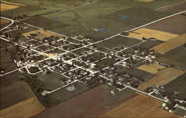 1971 Aerial View - Tingley State Savings Bank Iowa