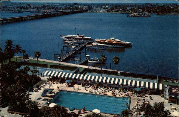 Palm Beach Biltmore Hotel Pool and Yacht Basin Florida