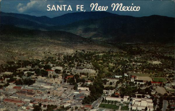 Aerial View of Santa Fe New Mexico