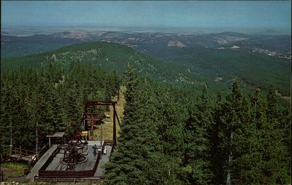 Terry Peak Chairlife Seen from Fire Lookout Black Hills South Dakota