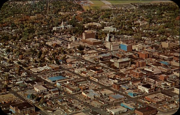 Air view of downtown Cheyenne Wyoming